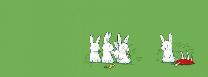 Lapin blanc cannibale
