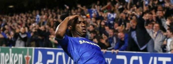 Didier Drogba clbration but
