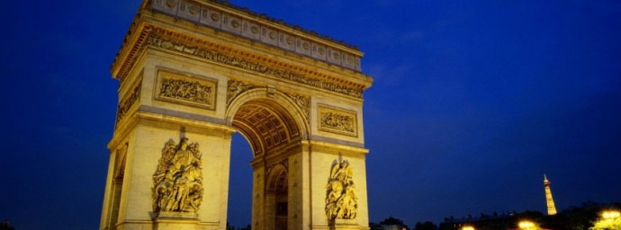 Arc de triomphe de paris illumin