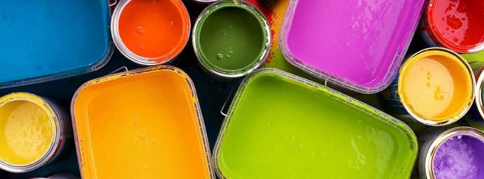 Pots de peinture de couleur
